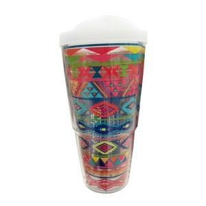 🆕Tervis Bright Aztec Plastic Tumbler